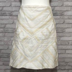 WHBM embroidered white skirt